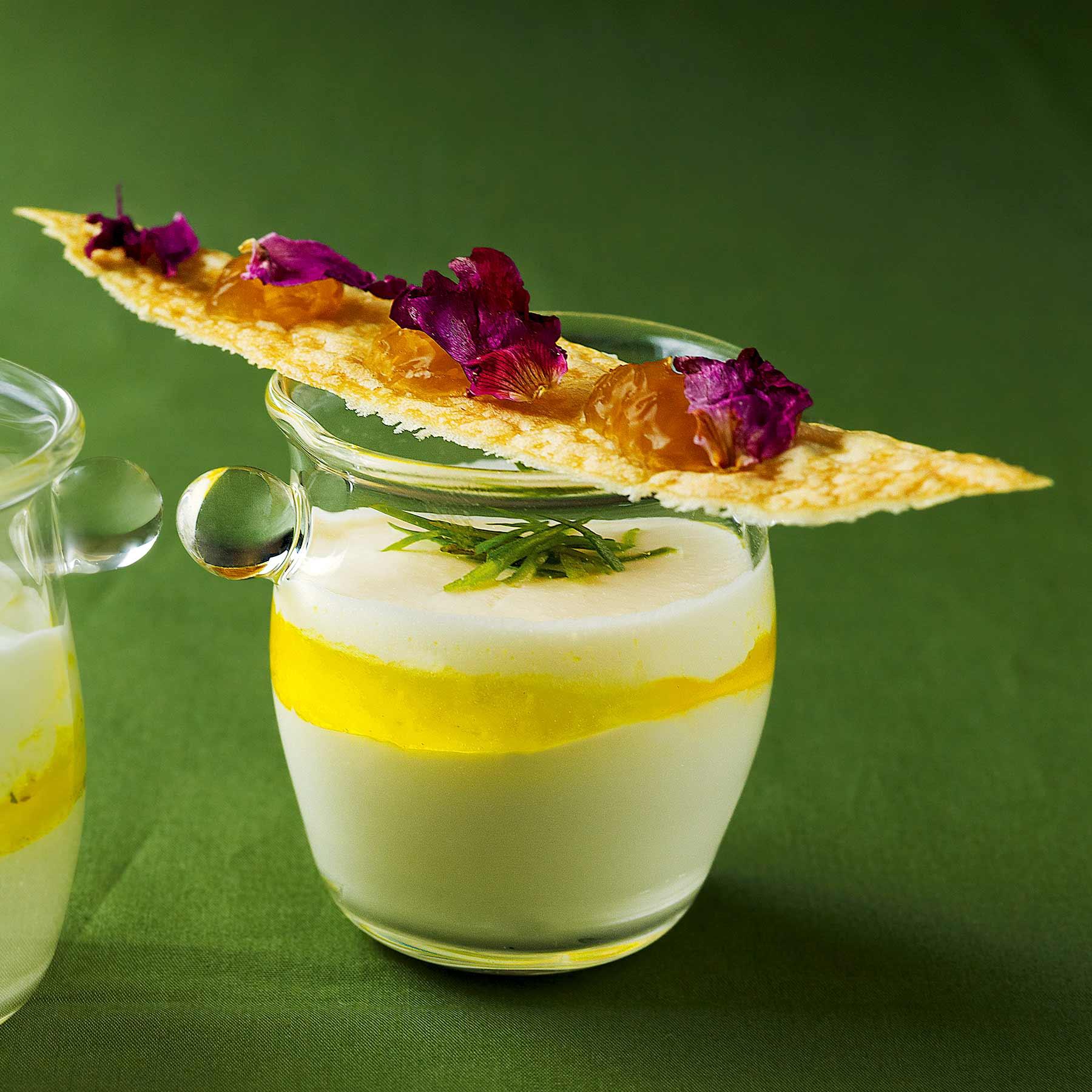 Ziegenjoghurt mit der Sylter Rose und Rapskernöl