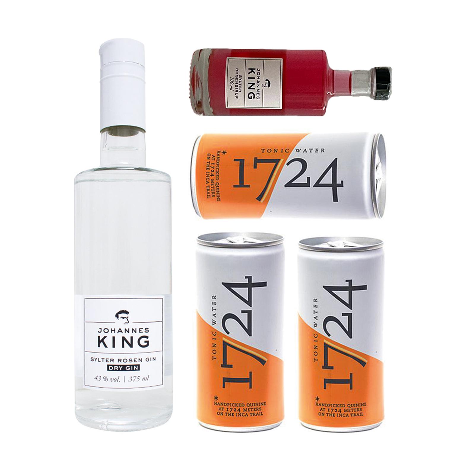 *LIMITIERT* Kings Rosen Gin + Tonic Set mit Rosensirup