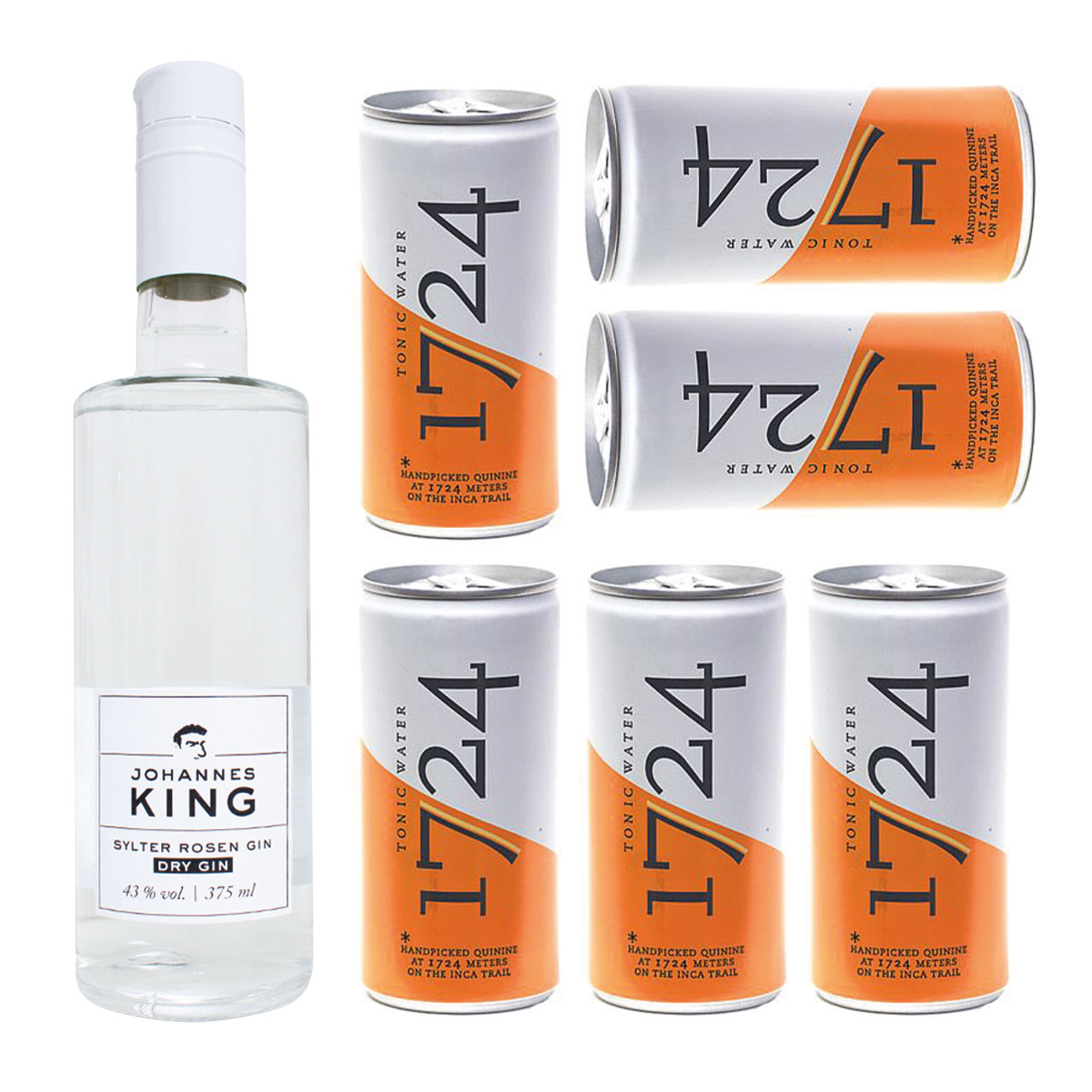 Kings Sylter Rosen Gin & 1724 Tonic Water Set