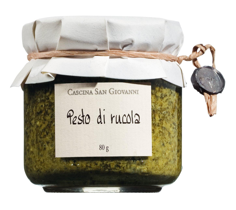 Rucola-Pesto mit Olivenöl und Pecorino