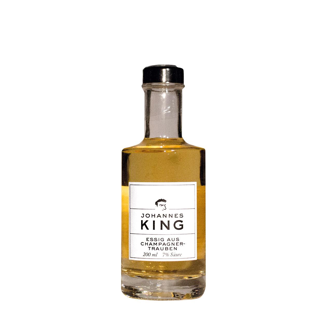 Kings Essig aus Champagnertrauben