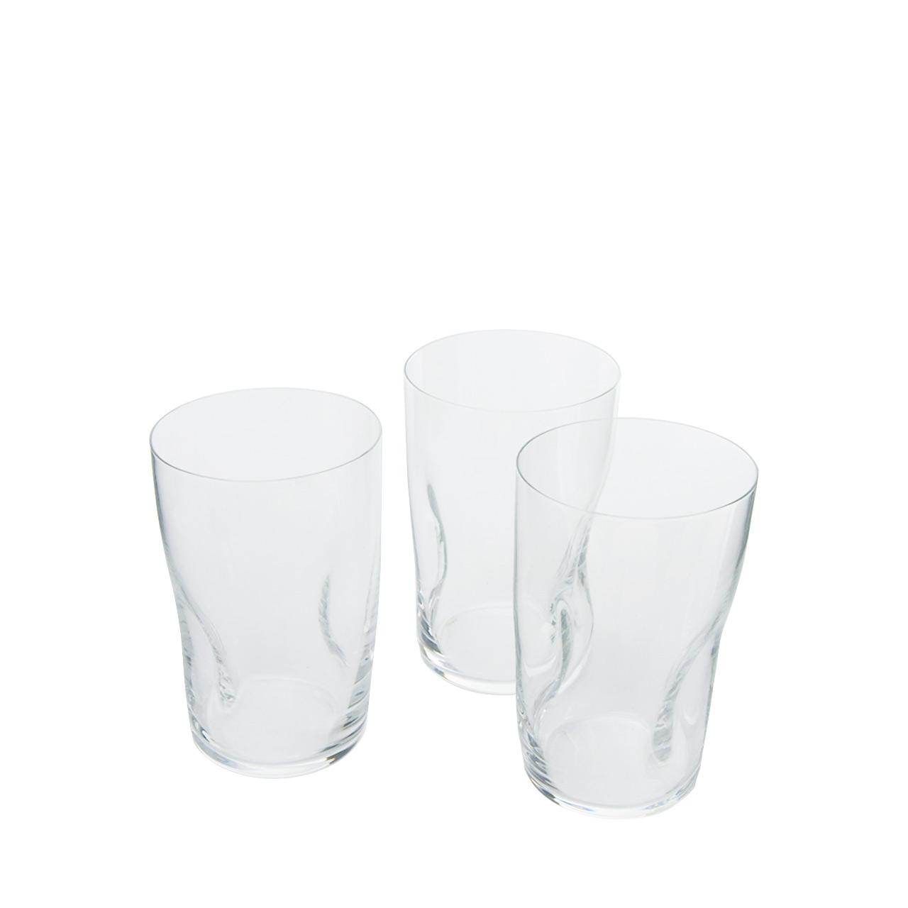 Quetschglas 6 eingedrückte Wassergläser 380ml
