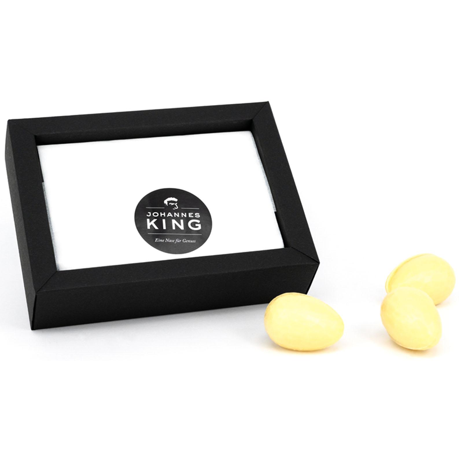 Kings Ostereier gefüllt mit original Liebelei, weiß