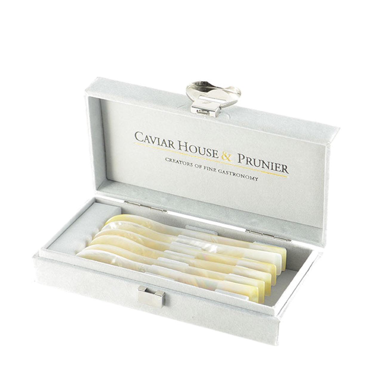Caviar House & Prunier Perlmuttlöffel 6 Stück