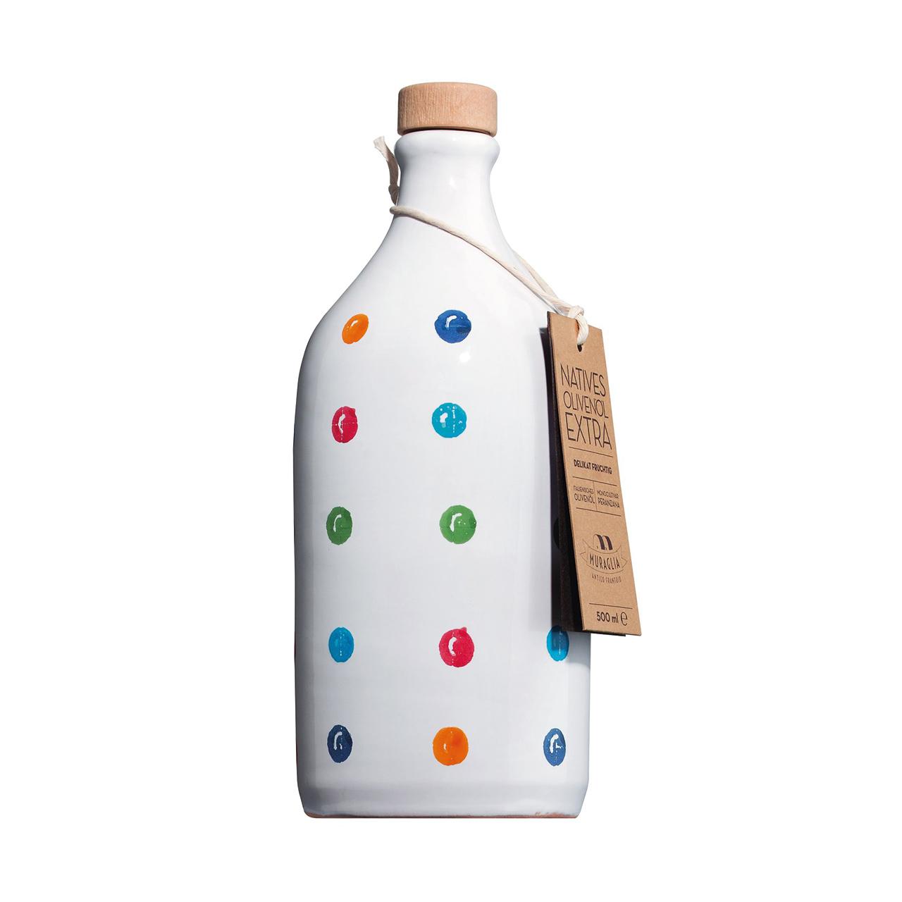 Olivenöl  in Tonflasche *gepunktet* extra vergine I Muraglia
