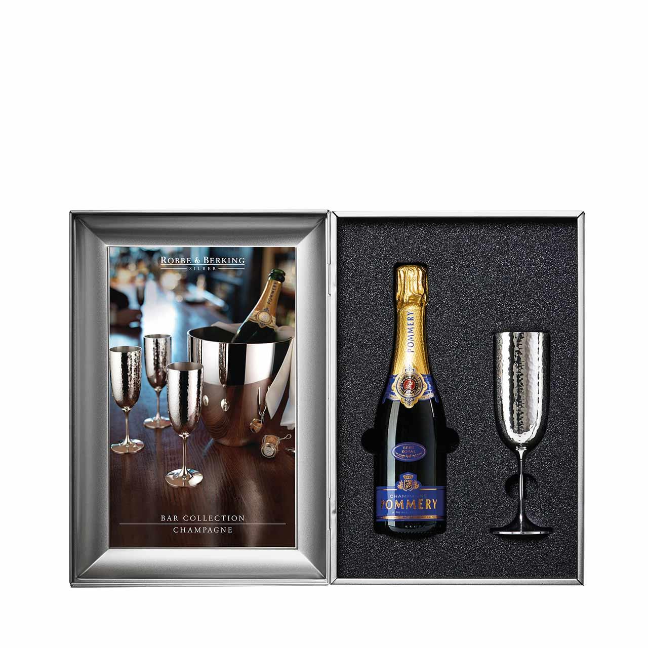 Robbe & Berking Champagnerkelch-Set klein Martelé