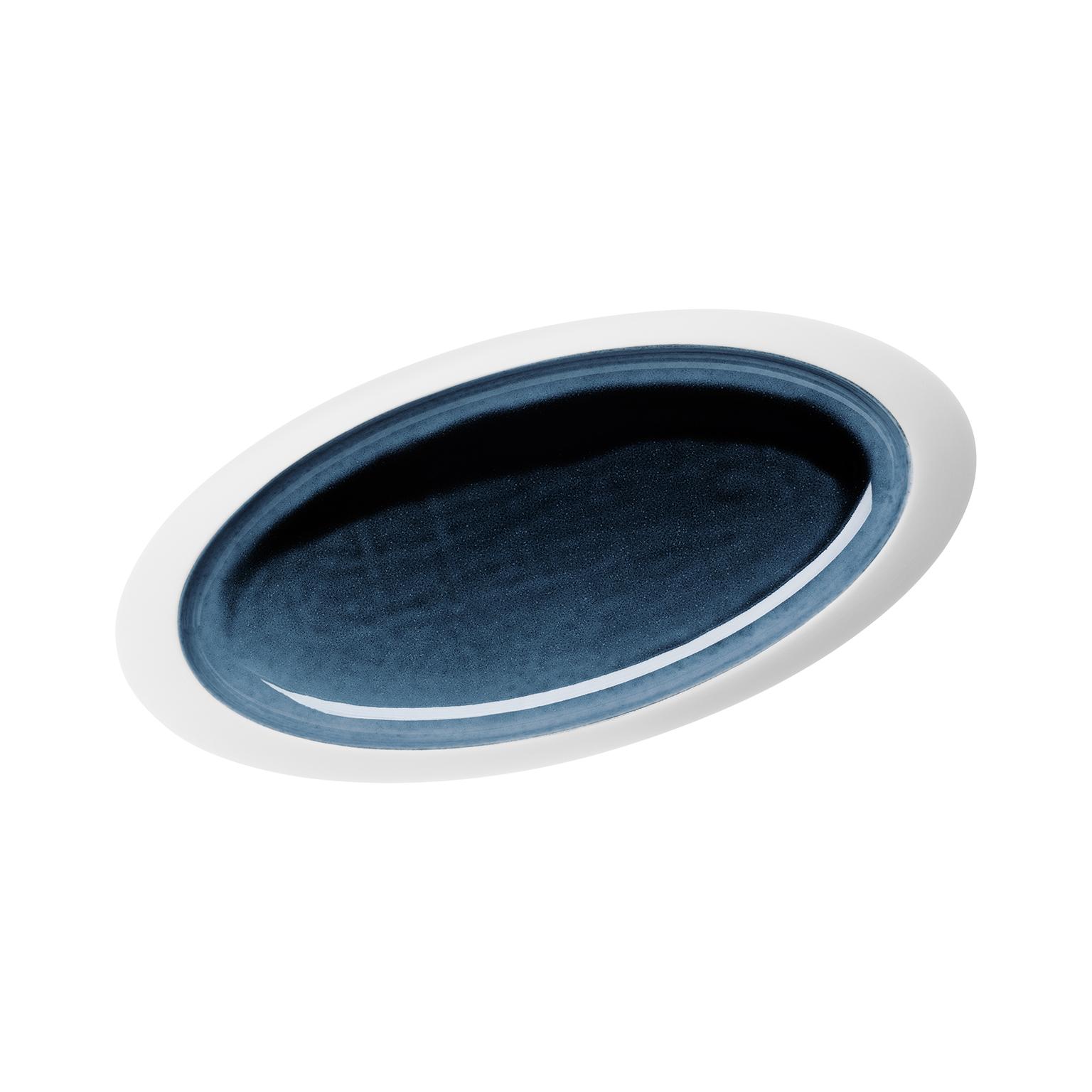 Hering Berlin Ovale Platte Blue Silent