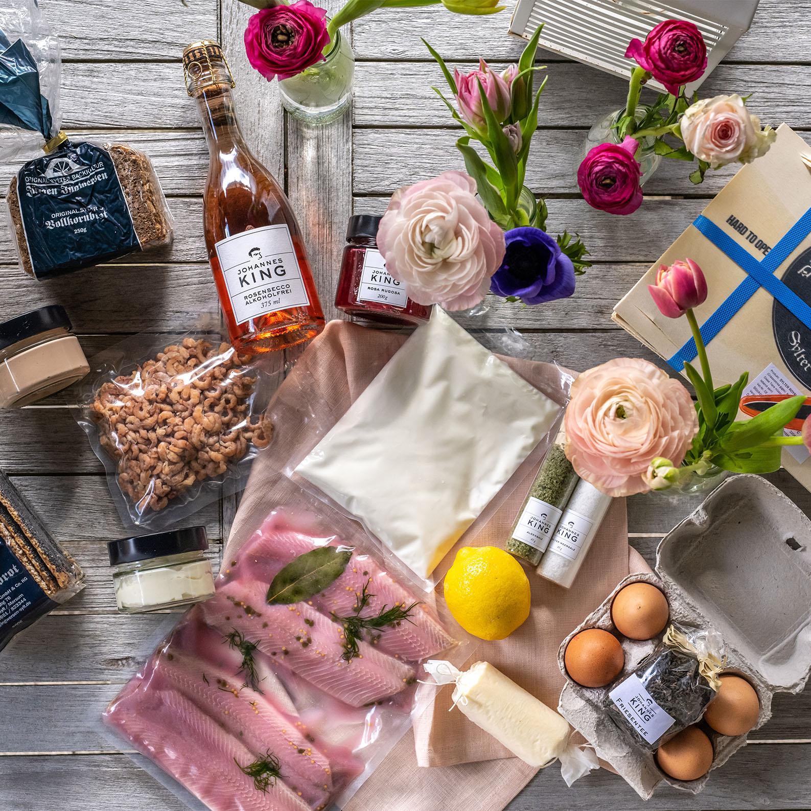 Sylter Frühstücksbox für 2 Personen - mit Champagner *LIMITIERT*