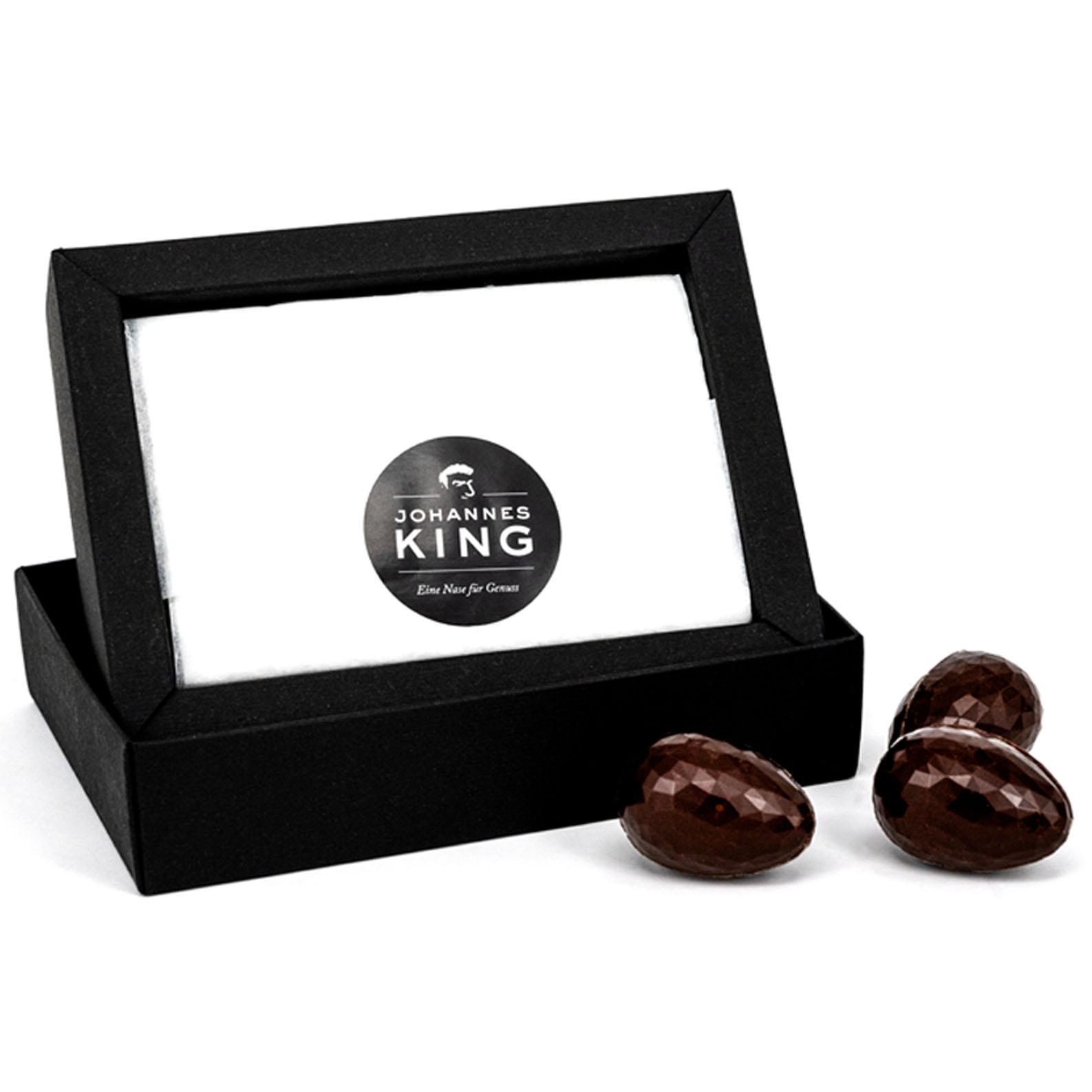Kings Ostereier gefüllt mit Liebelei, dunkel
